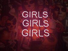 "Girls Girls Girls Three Neon Sign 17""x14"" Pub Beer Light Bar Christmas Decor"