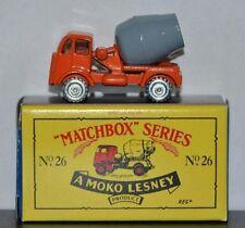 CEMENT MIXER TRUCK ~ Matchbox Recreation Originals No. 26 ~ WORN CARD