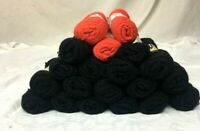 Vintage Bernat Berella 3-ply Fingerling Black & Red Yarn Acrylic Blend 21 skeins