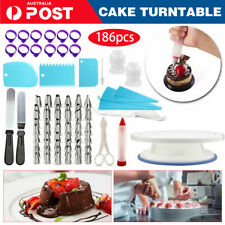 186pcs Cake Decorating Tools Kit Turntable Rotating Baking Flower Icing Nozzle A