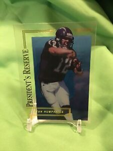 1996 Collector's Edge Stan Humphries President's Reserve #366 Chargers SP