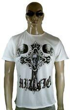 Estrás Ikons Amplified Saint&sinnners Cross Calavera Rock Rock Tattoo Vip T