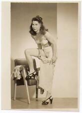 Akt Vintage Foto - leicht bekleidete Frau aus den 1950er/60er Jahren(85) /S200