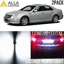 Alla Lighting License Plate Light 6000K Super White LED Tag Bulb for Cadillac 2x