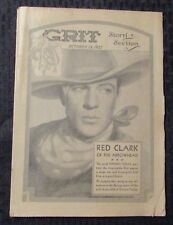 1935 Oct 13 GRIT Magazine Story Section VG+ 4.5 Red Clark of the Arrowhead
