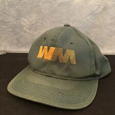 Vintage Green & Yellow Waste Management Snapback Adjustable Trucker Hat. YoungAn