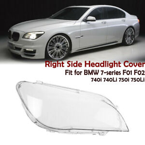 Right Side Clear ReplacementHeadlight Cover For BMW 7 Series F01/F02 2009-2015