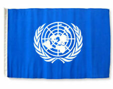 "12x18 12""x18"" United Nations Sleeve Flag Boat Car Garden"