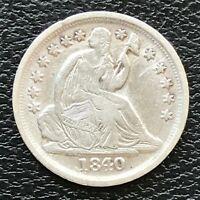 1840 O Seated Liberty Half Dime 5c High Grade AU - UNC #13782