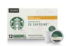 STARBUCKS BLONDE ROAST K-CUP COFFEE PODS WITH 2X CAFFEINE 72 COUNT