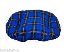 Grandi blu cotone tartan cane gatto cuscino letto per parte inferiore del cesto fatta in UK