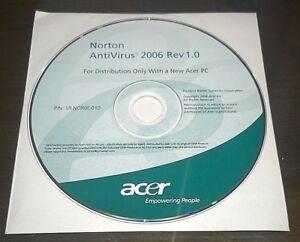 "Informatica/Software/Strumenti/Driver/CD/DVD""ACER NORTON ANTIVIRUS 2006 REV.1.0"""