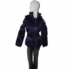 Baby Phat Women's Winter Coat Jacket with Hood, Purple, 1333BP