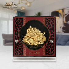 Money Toad Feng Shui Chinese Golden Frog 24k Gold Foil Crafts Lucky Wealth Gifts