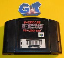 ECW HARDCORE REVOLUTION Nintendo 64 N64 Cartridge: Cleaned Tested
