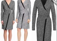 Hugo Boss WOMENS  EDEBA  Faux Wrap Black & White Dress RRP $345.90US BNWT