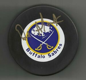Dave Andreychuk Signed Buffalo Sabres Trench Puck