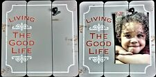 """Nwt Fetco Clip Wall/Table Frame, Gray Planks """"Living the Good Life"""" 4""""W, 6""""T Pic"""
