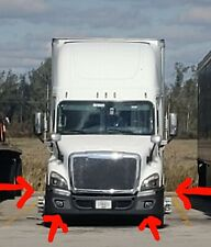 Freightliner Cascadia Front Bumper Chrome Dress Up Set. Fits 09 to 2018