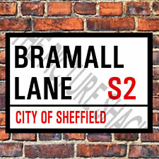 SHEFFIELD UNITED BRAMALL LANE STREET SIGN ON A TEA/COFFEE COASTER. 9cm X 9cm