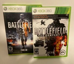 LOT Battlefield 3 and Bad Company 2 ULTIMATE EDITION Complete XBOX 360 Game