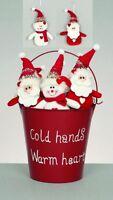 Christmas cuddly santa snowman hanging decoration tree gift stocking filler