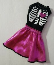 BARBIE DOLL CLOTHES SWEETHEART HALLOWEEN 2012 TARGET EXCLUSIVE SKELETON DRESS