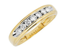 1 Row Channel Set Genuine Diamond, Yellow Gold Ring