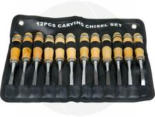 12Pcs Wood Carving Chisel Tool Set Woodworking Gouges Diy Detailed Hand Tools