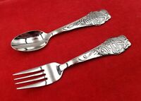 Noahs Ark by Oneida Community Stainless Steel 2 Piece Youth Spoon & Fork Set