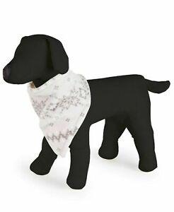 Family Pajamas Winter Holiday Fairisle Dog Pet Bandana S/M small medium