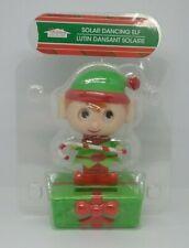 Old Stock Solar Powered Dancing Elf Holiday Christmas