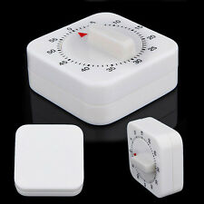 Reminder White Round Baking Cook 60 Minutes Kitchen Square Mechanical Timer