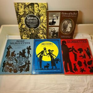 Journaling Scrapbooking Junk Journal Lot Silhouette Children Vintage Books