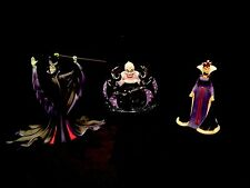 Precious Moments-Disney Villains 3-Piece Set! Ursula, Maleficent, Evil Queen-NIB