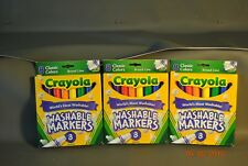 Crayola Washable Markers Broad Tip Classic Colors 8 Pack 58-7808) 3 Packages =24