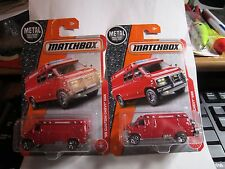 2017 MATCHBOX #87 '95 CUSTOM CHEVY VAN☆Red; Both variations☆Heroic Rescue☆Case F