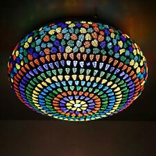 Mosaic Design Multi-Color Glass Ceiling Light Living Dining Hall Lamp