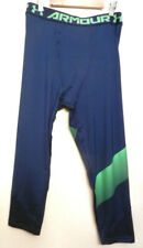 Under Armour Youth Boys 3/4 Tights Size Yxl Blue Green Nwt $35 Value Sports Gym