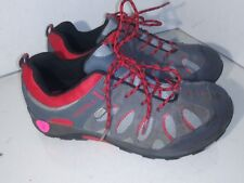 Merrell Chameleon Low Lace WP Shoes Red Gray Boys Shoes Capatable Size 5