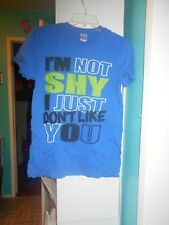 I'm Not Shy I Just Don't Like You Men's T Shirt  Size SM
