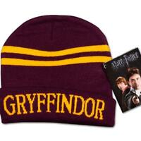 Harry Potter Gryffindor Stripes Knit Beanie Hat Cap Deathly Hallows Costume UK