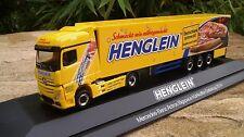 """Herpa  Mercedes Benz Actros Bigspace Kühlkoffer Sattelzug """"Henglein Pizzateig"""""""
