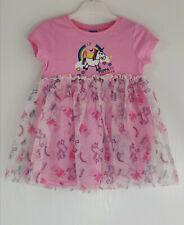 PEPPA PIG & UNICORN GIRLS PINK TUTU MESH DRESS - Size UK 1½- 2 YEARS