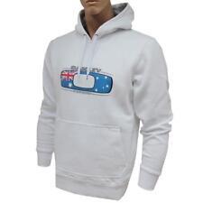 Oakley Torquay Hoodie Mens Size M Medium White Australia Flag Jumper Sweater