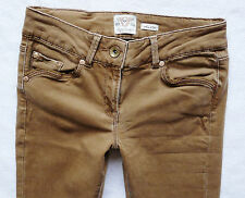 River Island Jeans Size 8 R sexy wide leg kick flare camel beige wash  28/32