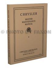1934 1935 1936 Chrysler Master Repair Shop Manual Six Airflow Eight Imperial