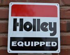 HOLLEY EQUIPPED SIGN PEFORMANCE CARBURETORS HotRod Mechanic Racing Garage 7day