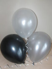 Black Silver White Balloons ☆ Ideal for Party Awards ☆ Prom Decorations / Helium