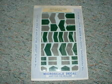 Microscale decals HO Anti Glare panels 87-431 in ps-6 package   C62